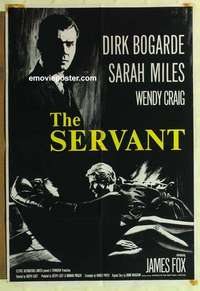 a061 SERVANT English one-sheet movie poster '64 James Fox, Dirk Bogarde