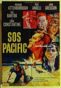 a063 SOS PACIFIC English one-sheet movie poster '60 Attenborough, Angeli
