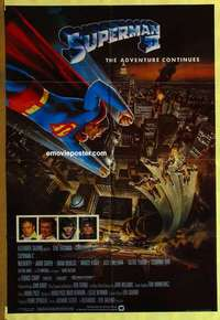 a066 SUPERMAN 2 English one-sheet movie poster '81 Christopher Reeve, Terence Stamp