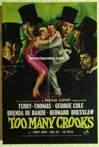 a072 TOO MANY CROOKS English one-sheet movie poster '58 Terry-Thomas