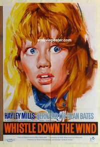 a078 WHISTLE DOWN THE WIND English one-sheet movie poster '62 Hayley Mills