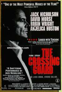 a003 CROSSING GUARD English double crown movie poster '95 Nicholson