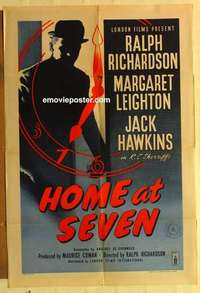 a040 HOME AT SEVEN English one-sheet movie poster '52 Ralph Richardson