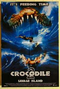a014 BLOOD SURF English one-sheet movie poster '00 wild surfing image!