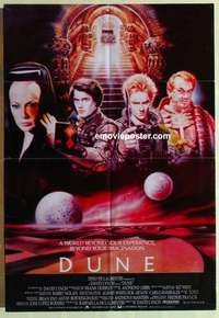 a026 DUNE English one-sheet movie poster '84 David Lynch sci-fi epic!