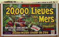 f002 20,000 LEAGUES UNDER THE SEA Belgian movie poster '55 Jules Verne