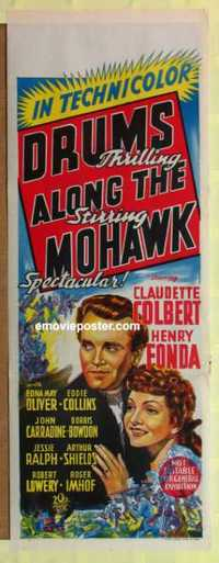 f071 DRUMS ALONG THE MOHAWK long Australian daybill movie poster '39 Ford