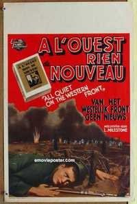 f005 ALL QUIET ON THE WESTERN FRONT Belgian movie poster R50s Lew Ayres