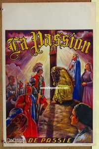 f008 BEHOLD THE MAN Belgian movie poster '51 Passion of Jesus!