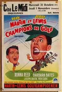 f014 CADDY Belgian movie poster '53 Dean Martin & Jerry Lewis golfing!