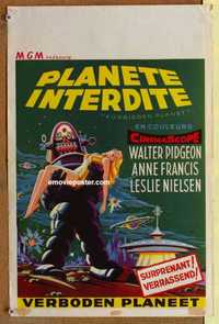 f001 FORBIDDEN PLANET Belgian movie poster '56 Robby the Robot!