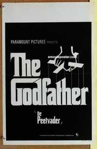 f029 GODFATHER Belgian movie poster '72 Francis Ford Coppola classic!