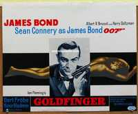 f030 GOLDFINGER Belgian movie poster R70s Sean Connery as James Bond