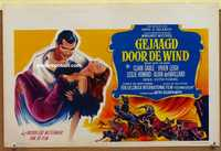 f031 GONE WITH THE WIND Belgian movie poster R60s Clark Gable, Leigh
