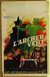 f033 GREEN ARCHER Belgian movie poster '40 Edgar Wallace serial!