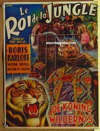 f038 KING OF THE WILD Belgian movie poster R50s serial, Miller