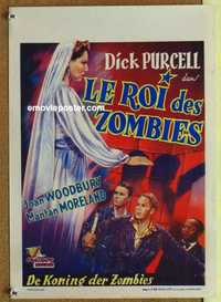 f039 KING OF THE ZOMBIES Belgian movie poster '41 Dick Purcell