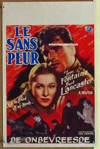 f040 KISS THE BLOOD OFF MY HANDS Belgian movie poster '48 Lancaster