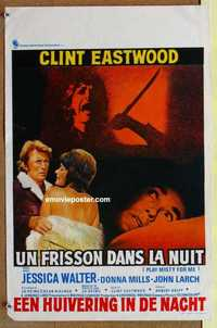 f051 PLAY MISTY FOR ME Belgian movie poster '71 Clint Eastwood