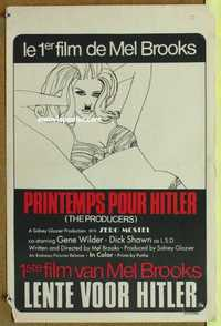 f052 PRODUCERS Belgian movie poster '67 Mel Brooks, great image!