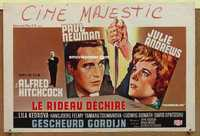 f063 TORN CURTAIN Belgian movie poster '66 Paul Newman, Hitchcock