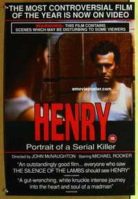 f087 HENRY PORTRAIT OF A SERIAL KILLER video British ...