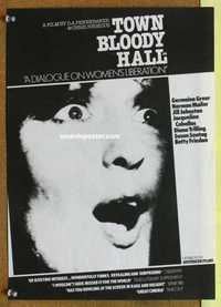 f073 TOWN BLOODY HALL English 12x16 movie poster '79 Norman Mailer