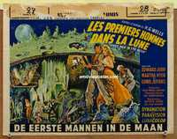 f027 FIRST MEN IN THE MOON Belgian movie poster '64 Ray Harryhausen