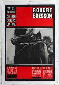 m073 BRESSON FESTIVAL linen French 30x47 movie poster '70s Robert!