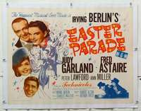 m079 EASTER PARADE linen half-sheet movie poster R62 Judy Garland, Fred Astaire