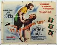 m002 IT'S A WONDERFUL LIFE style B half-sheet movie poster '46 James Stewart