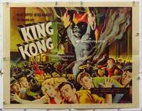 m028 KING KONG half-sheet movie poster R56 incredibly cool ape image!