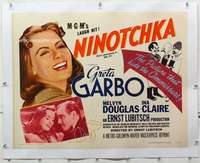 m052 NINOTCHKA linen half-sheet movie poster R62 Greta Garbo, Lubitsch