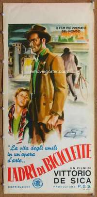 m058 BICYCLE THIEF Italian locandina movie poster R55 Vittorio De Sica
