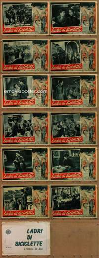 m057 BICYCLE THIEF 12 Italian photobusta movie posters '48 Vittorio De Sica