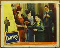 m025 HARVEY movie lobby card #6 '50 James Stewart looking smug!