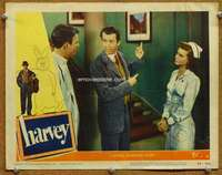 m024 HARVEY movie lobby card #8 '50 James Stewart is not crazy!