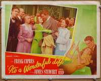 m005 IT'S A WONDERFUL LIFE movie lobby card #5 '46 Stewart holds Reed!