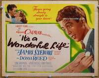 m003 IT'S A WONDERFUL LIFE movie title lobby card '46 Frank Capra classic!