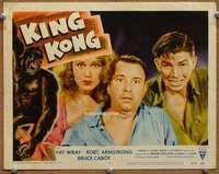 m032 KING KONG movie lobby card #1 R56 Fay Wray, Armstrong, Cabot
