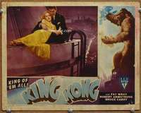 m033 KING KONG #2 movie lobby card R46 Fay Wray on Empire State!