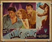 m034 KING KONG #3 movie lobby card R46 top three stars scared!