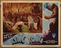 m036 KING KONG #5 movie lobby card R46 Fay Wray surrounded by natives!