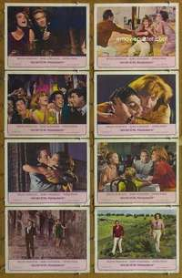 p078 10:30 PM SUMMER 8 movie lobby cards '66 Mercouri, Schneider, Finch