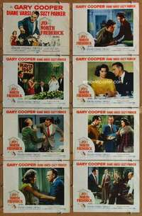 p077 10 NORTH FREDERICK 8 movie lobby cards '58 Gary Cooper, Varsi