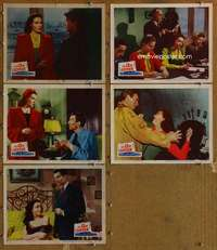 p719 13th LETTER 5 movie lobby cards '51 Otto Preminger, Linda Darnell