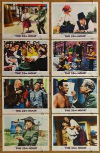 p081 25th HOUR 8 movie lobby cards '67 Anthony Quinn, Virna Lisi