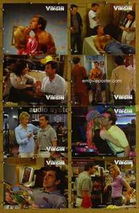 p084 40 YEAR OLD VIRGIN 8 movie lobby cards '05 Steve Carell