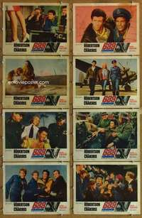 p086 633 SQUADRON 8 movie lobby cards '64 Cliff Robertson, World War II