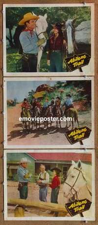 p906 ABILENE TRAIL 3 movie lobby cards '51 Whip Wilson, Andy Clyde